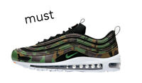 "Nike Air Max 97 County Camo UK ""Raw Umber-Green"" Men's Trainer Limited Edition"