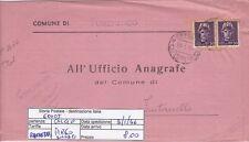 E0005 - LUOGOTENENZA IMPERIALE 0.50+0.50 SU PIEGO SINDACI