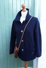 Saint James France nautique/voile bleu marine bouillie veste en laine Taille 12