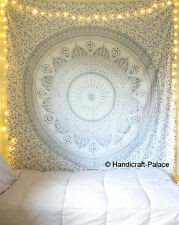 Indischer Silberner Ombre Mandala Wandbehang Hippiedekor Boho Wandbehangwurf