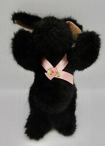 Muffy Vanderbear Hopwood Jr. 8051 NABCO 1989 black bunny rabbit pink ribbon