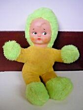 10 Inch Green Shag and Corduroy Soft Doll