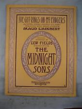 Ive Got Rings On My Fingers Antique Large Sheet Music 1909 Maurice Scott (O)