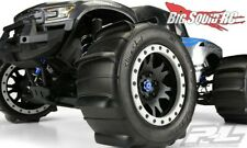 4 PRO-LINE SLING SHOT Pro-Loc MOUNTED SAND PADDLE TIRES + WHEELS TRAXXAS X-MAXX