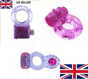 VIBRATING COCK RING*Naughty Angels*Stretchy Penis Sleeve Couples SexToys UK SALE