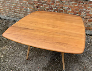 Vintage Blonde Blue Label Ercol Square Drop Leaf Table