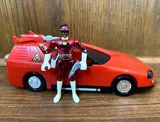 Deluxe Red Lightning Cruiser Vintage Power Rangers Turbo Car & Figure Set 1997