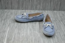 **Vionic Virginia Leather Moccasin Loafers, Women's Size 9, Blue