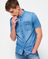 New Mens Superdry Dragway Denim Shirt Mid Vintage