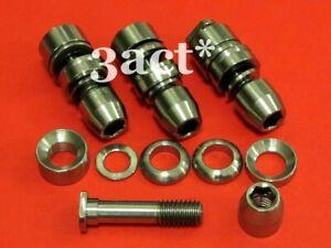 4 set Titanium / Ti Mtn / Road Brake V-Brake Pad Bolt, Nut, Washer Front & Rear