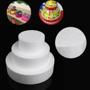 Round Styrofoam Foam DIY Cake Dummy Modelling Sugarcraft Flower Wedding Decor.