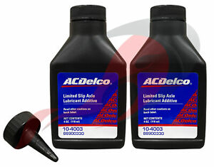 Genuine GM ACDelco 10-4003 Limited Slip Axle Lubricant Additive 4oz Set Of 2