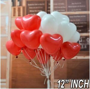 "100pcs 12""inch Latex Love Heart Shape Balloons Home Celebration Love Photo Props"