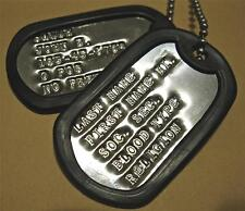 DOG TAGS CUSTOM SHINY WITH DEBOSSING 2-EA TAGS SAME AS GI (UP to 18 SPACES )