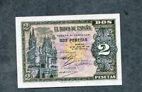 BILLETE 2 PESETAS 1938 SERIE D6206261  EBC +  doblez central poco pronunciada