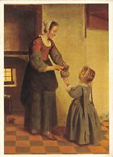 B63803 art reproduction Pieter de Hooch The pantry    painting postcard