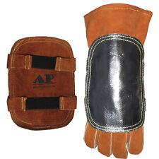 AP-9500 Heat Shield Split Cowhide Leather Hand Pad w/ Aluminized Back   1 PC