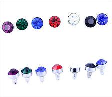 Diamond ear stud style stainless steel 9mm crystal earring, multiple choices