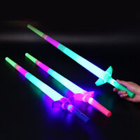 HN- Plastic Extendable LED Flashing Glow Sword Stick Kids Light Up Toy Concert P