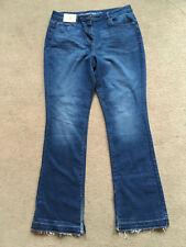 """NEXT Ladies Dark Blue Slim Fit Jeans Raw Hem Size 12 Reg Leg 32.5"""""""