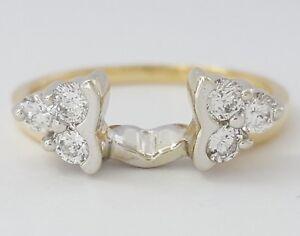 0.40 ct 14K Tone Gold Round Сut Diamond Wrap / Enhancer Wedding Band Ring