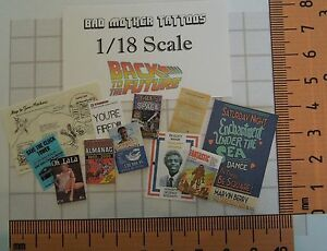 Back to the Future 1/18 scale Magazines and Documents - Large Assortment