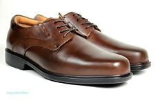 La Milano Mens Dress Shoes Genuine Leather Brown, Extra wide (EEE) lace up A1719