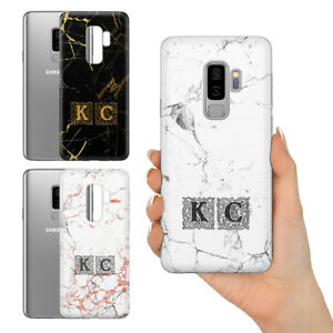 PERSONALISED ROYAL ROSE GOLD MARBLE UNIQUE DESIGN HARD PHONE CASE FOR SAMSUNG S