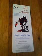 2008 Greenwich Arts Council Connecticut Art To The Avenue Brochure Map Artist