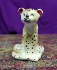 Vintage Porcelain Yellow with Black Spots Cheetah Figurine