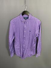 RALPH LAUREN Shirt - Size 16.5 - Striped - Purple - Great Condition - Men's
