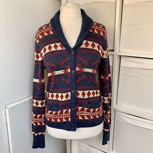 Ralph Lauren Denim & Supply Southwestern Cardigan Size L Aztec Blue & Red