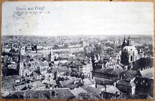 1908 Prag/Praha/Prague, Czech Republic 'Gruss Aus' Postcard - Birdseye View