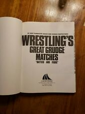1985 Wrestling Book Great Grudge Matches Battles Hardback WWF NWA AWA Flair Rhod