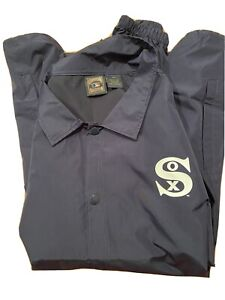 Chicago White Sox Cooperstown Collection Jacket 4XT Windbreaker Big Size GO SOX