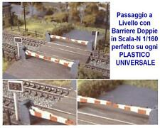 PASSAGGIO a LIVELLO in KIT Old-Style CROSSING a 4 BARRIERE per 2 BINARI SCALA-N