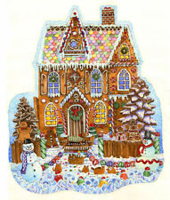 Jigsaw Puzzle Seasonal Christmas Gingerbread House freeform 1000 pieces NEW USA