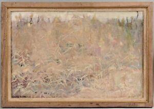 Original AINSLIE BURKE American Impressionist Landscape Oil Painting, POND GRASS
