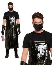 Mens Adult Scary Butcher Bloody Fancy Dress Costume Halloween Horror Apron Mask