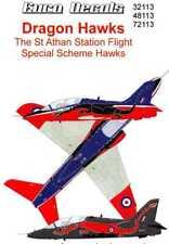 Euro Decals 1/32 DRAGON HAWKS St Athan Station Flight Special BAe Hawk Scheme