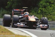 "Formula One F1 Driver Jaime Alguersuari Red Bull Hand Signed Photo 12x8"" K"