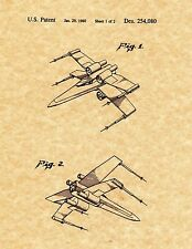 Patent Print - X-Wing Spaceship Toy - 2 Prints. Star Wars. Ready To Be Framed!
