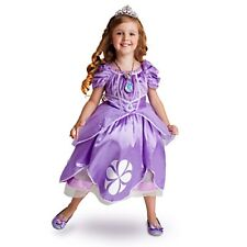 SOFIA THE FIRST Costume Purple Dress w/ Heart Cameo Medium 7 8 DISNEY STORE V2