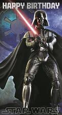 STAR WARS HAPPY BIRTHDAY ripiegare BIGLIETTO - Darth Vader Yoda Stormtrooper