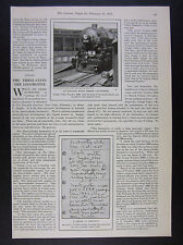 1925 Lehigh Valley LV Railroad 3-Cylinder Locomotive 5000 photo article clipping