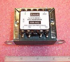 CTFCS20-18 PRO-POWER/ FARNELL ISOLATION TRANSFORMER 1x230V 2x18V 20VA 696-602
