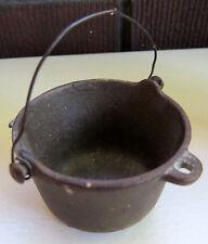 Antique Cast Iron Vintage Miniature Toy Regular Kettle Pot