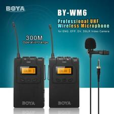 US STOCK BOYA BY-WM6 UHF Wireless Microphone System for Camera & Video Camcorder