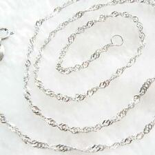 Shiny Chain New 18″ Rope Argent 925 massif Bijoux Collier féminin LM