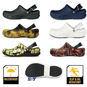 CROCS Work Shoe Slip Resistant Waterproof Nurse Service Kitchen Shoes MEN'S SIZE